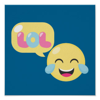 LOL Emoji Bubble Poster