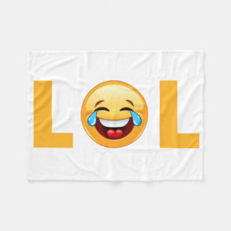 LOL EMOJI FLEECE BLANKET