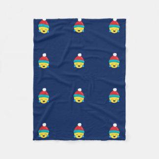 Lol Emoji Winter/ Christmas holiday Blue Blanket