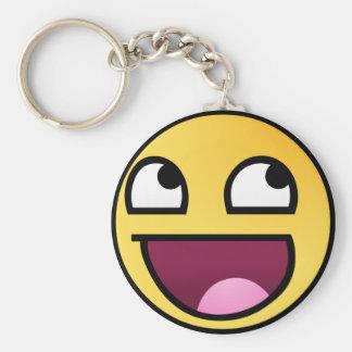 LOL Face Basic Round Button Keychain