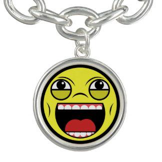 LOL Face Charm Bracelet