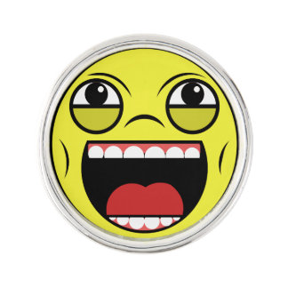LOL Face Lapel Pin