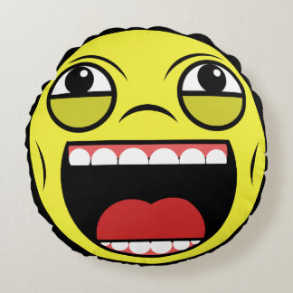 LOL Face Round Pillow