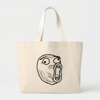 lol-guy large jumbo tote bag
