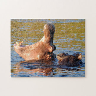 LOL. Hippo Yawns. Jigsaw Puzzle