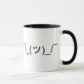 LOL IDK Shrug Emoticon Mug