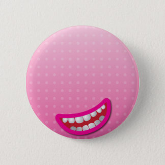LOL laughing mouth with teeth cute! 2 Inch Round Button
