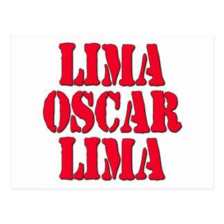 LOL Lima Oscar Lima Laugh Out Loud Postcard