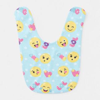 LOL OMG Emoji Pattern Bib