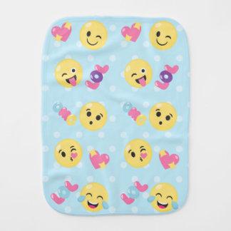 LOL OMG Emoji Pattern Burp Cloth
