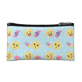 LOL OMG Emoji Pattern Cosmetic Bag