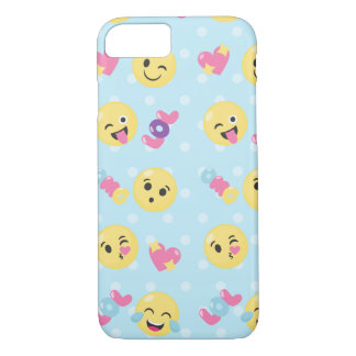 LOL OMG Emoji Pattern iPhone 7 Case