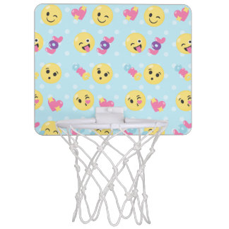 LOL OMG Emoji Pattern Mini Basketball Hoop