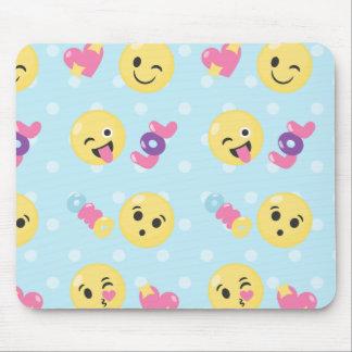 LOL OMG Emoji Pattern Mouse Pad