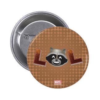 LOL Rocket Emoji 2 Inch Round Button