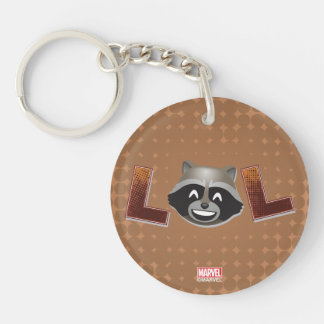 LOL Rocket Emoji Keychain