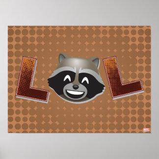 LOL Rocket Emoji Poster