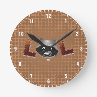 LOL Rocket Emoji Round Clock