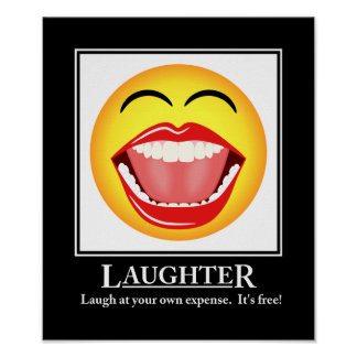 LOL Smiley Face Laughter Motivational Poster Print