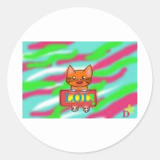 LOL Warrriorcats Classic Round Sticker