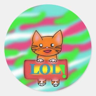 LOL Warrriorcats Round Sticker