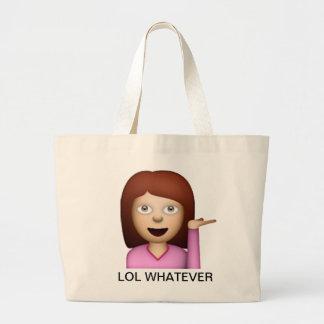 LOL WHATEVER tote bag