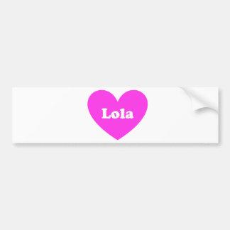 Lola Bumper Sticker