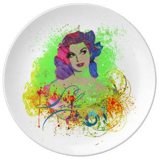 Lola Decorative Porcelain Plate