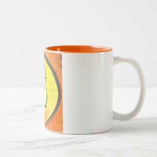 Lola Meditates Watercolor Enso Two-Tone Coffee Mug