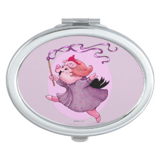 LOLA PIGGY CARTOON compact mirror OVAL