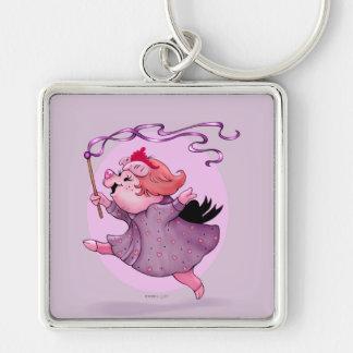 LOLA PIGGY KEYCHAIN Premium Square Keychain LARGE