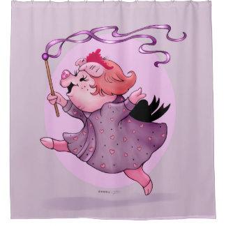 LOLA PIGGY Shower Curtain