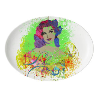 Lola Porcelain Coupe Platter