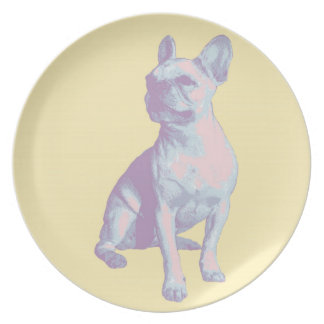 Lola the French Bulldog plate