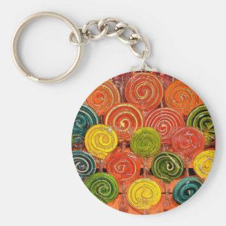 Loli Basic Round Button Keychain