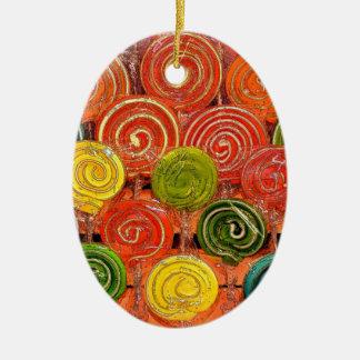 Loli Ceramic Oval Ornament