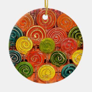 Loli Round Ceramic Ornament