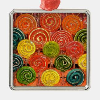 Loli Silver-Colored Square Ornament