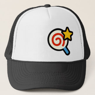 Lollipop and star trucker hat