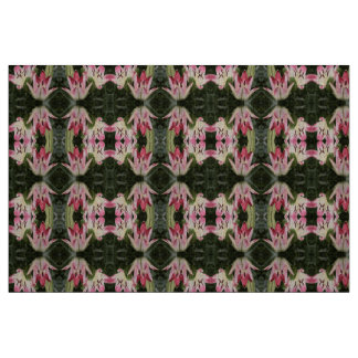 Lollipop Asiatic Lily Flowers and Buds Fabric