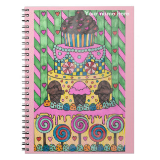 Lollipop Cake Notebook Personalize
