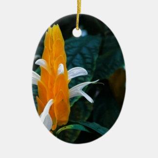 Lollipop flower ceramic oval ornament