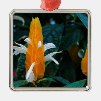 Lollipop flower Silver-Colored square ornament