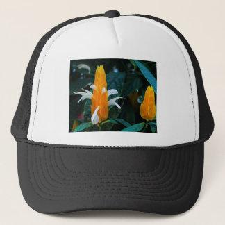Lollipop flower trucker hat