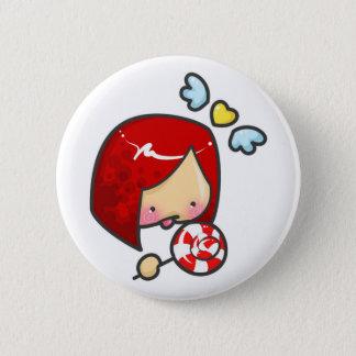 Lollipop Girl 2 Inch Round Button
