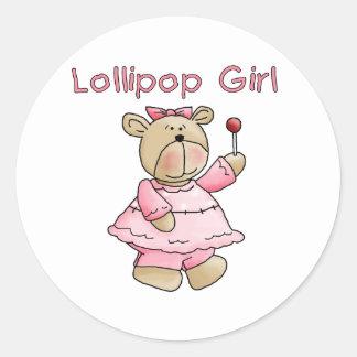 Lollipop Girl Classic Round Sticker