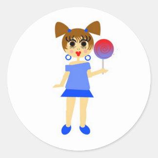 Lollipop Girl Sticker