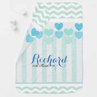 Lollipop  Hearts Blue Baby Blanket