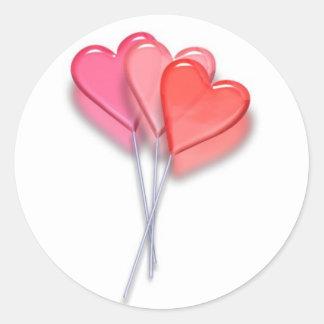 Lollipop Hearts Classic Round Sticker