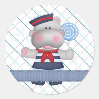 Lollipop Hippo Sweet Treat Sticker